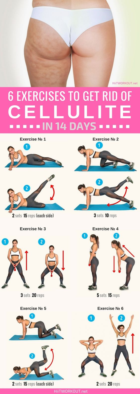 6 Exercises to Get Rid of Cellulite in 14 Days